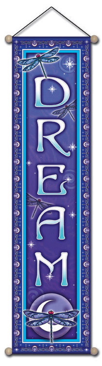 Dream Moon Affirmation Banner by Bryon Allen of Mandala Arts