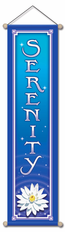 Serenity Affirmation Banner by Bryon Allen of Mandala Arts
