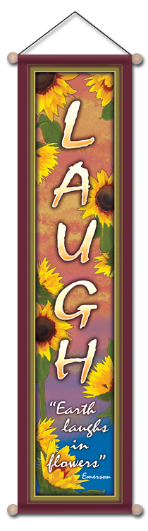 Laugh Affirmation Banner by Bryon Allen of Mandala Arts