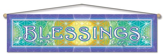 Blessing Entry Blessing Banner by Bryon Allen of Mandala Arts