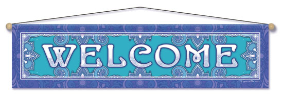 Welcome Entry Blessing Banner by Bryon Allen of Mandala Arts