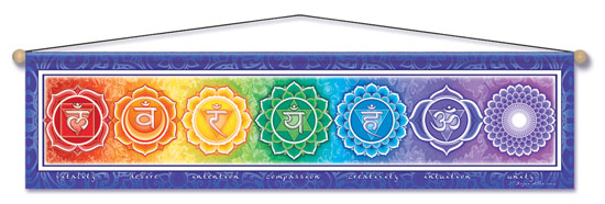 Chakra Energy Entry Blessing Banner by Bryon Allen of Mandala Arts