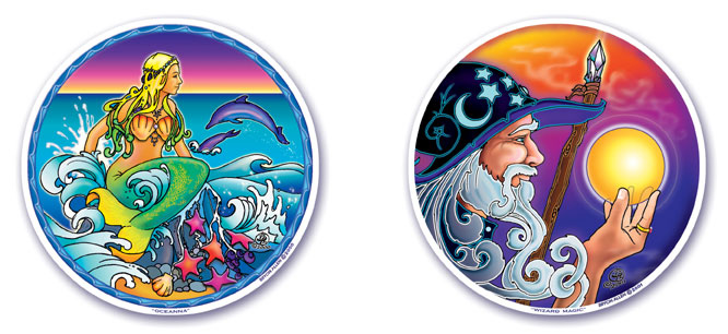 Oceanna and Wizard Magic Window Stickers