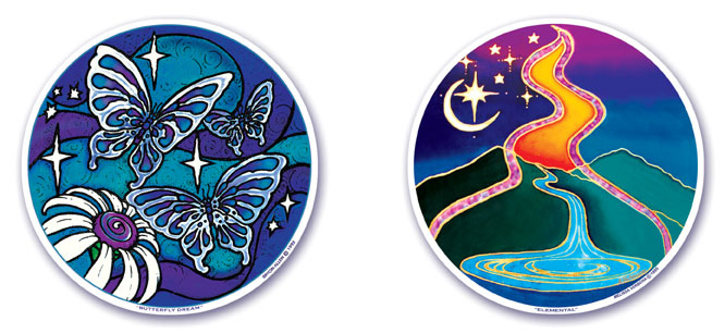 Butterfly Dream and Elemental Window Stickers