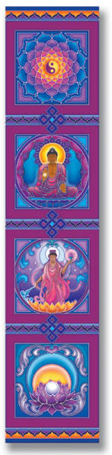 Decorative Rayon Wall Hangings designed by Bryon Allen of Mandala Arts